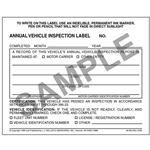 Annual Vehicle Inspection Label (2-ply with Laminate)