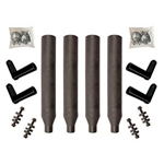 Minimizer Plastic Paddle Bracket Bolt On Kit for Poly Truck Fenders