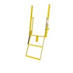 Close up view of Double Handle Wide 2 Step Solid Stake Rolson Ladder