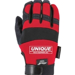 Red Synthetic Leather Mechanics Gloves